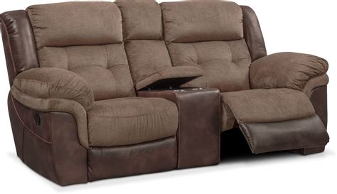 Reclining Loveseat by Tacoma Manual Reclining Loveseat With Console Brown