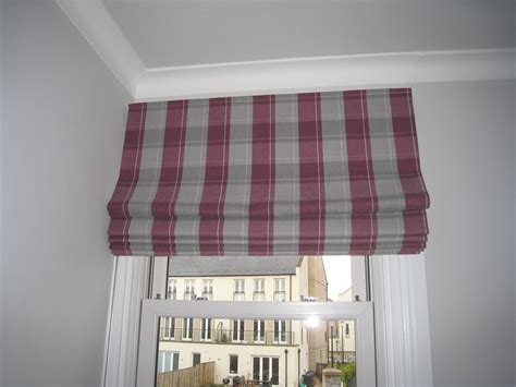 Roman Blinds And Curtains For A Family Home In Trinity, Edinburgh Red Hookless Shower Curtain Pottery Barn Curtains On Sale Art Deco How To Choose Rods Track For Bay Window Install A Tension Rod Sound Barrier Home Extra Long Fabric