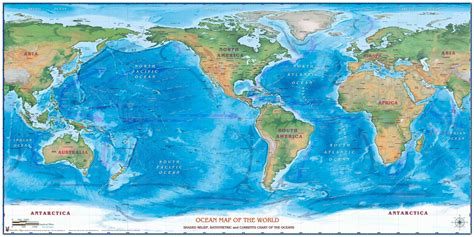 world oceans map  map shop