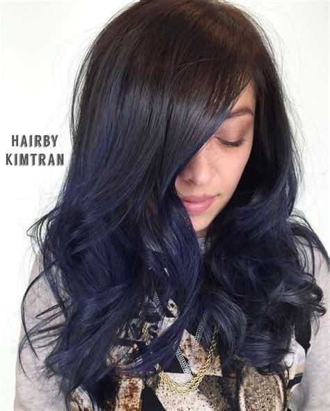The 25 Best Midnight Blue Hair Ideas On Pinterest