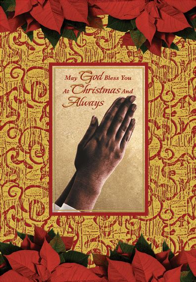 hands  prayer african american christmas card