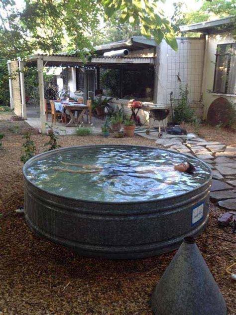 galvanized stock tank bathtub diy galvanized stock tank pool to beat the summer heat