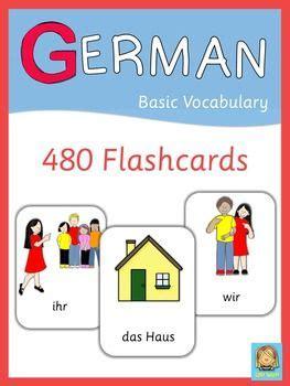 German Flash Cards  Basic Vocabulary  Language, Furniture And Rooms Furniture