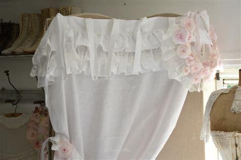 rideau lin shabby chic froufrou romantique boutique www