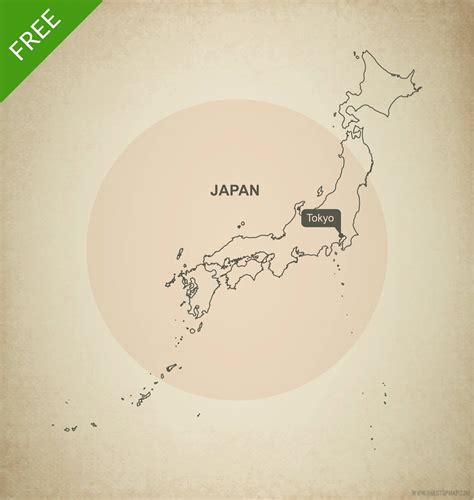 vector map  japan outline  stop map