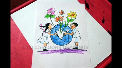 draw clean india green india drawing  kids step
