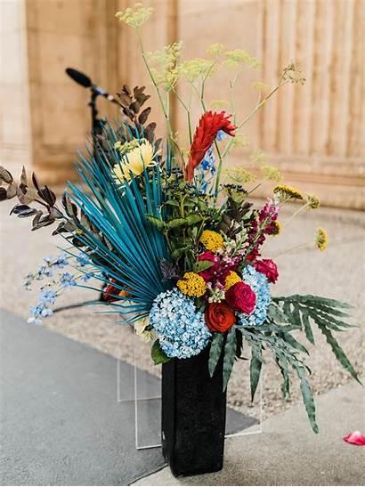 Flower Arrangements Eclectic Colorful Weddings
