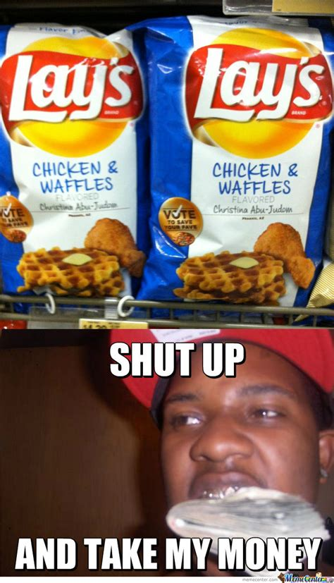 Waffles Meme Chicken And Waffles By Marshmallowman Meme Center
