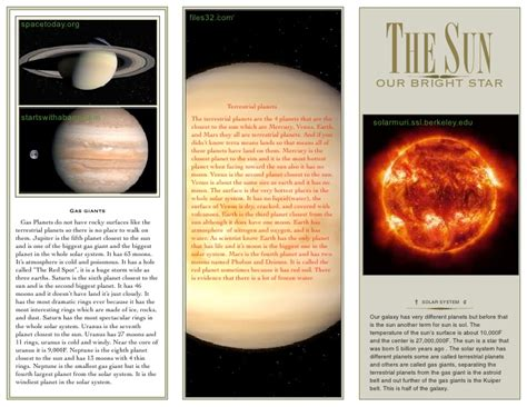 Planet Brochure Template by S Solar System Brochure