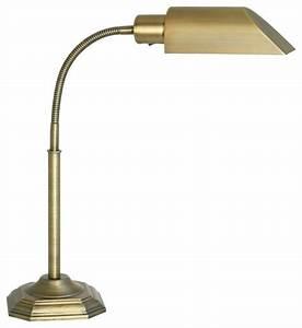 ott lite alexander brass energy saving gooseneck desk lamp With traditional gooseneck floor lamp