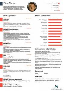 interior designer ausbildung what elon musk 39 s cv looks like all in one page