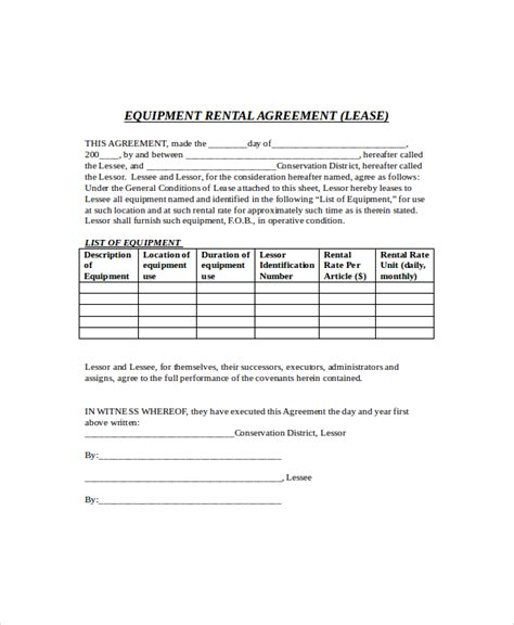 aircraft lease templates documents  pdfs