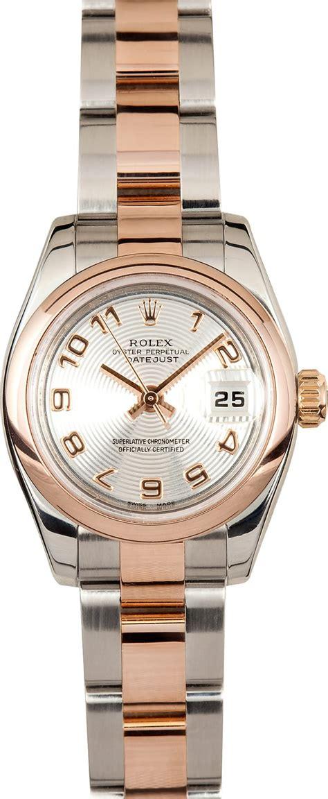 Lady Rolex DateJust 179161 18k Rose Gold - No sales tax ...