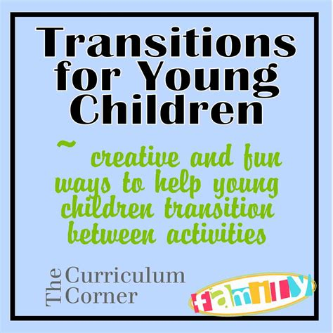 transition activities for preschool children transitions for children the kinder corner 176