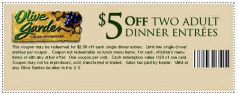 olive garden coupin free printable coupons olive garden coupons