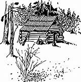 Coloring Pages Cabin Printable Log Colouring Printablecolouringpages sketch template