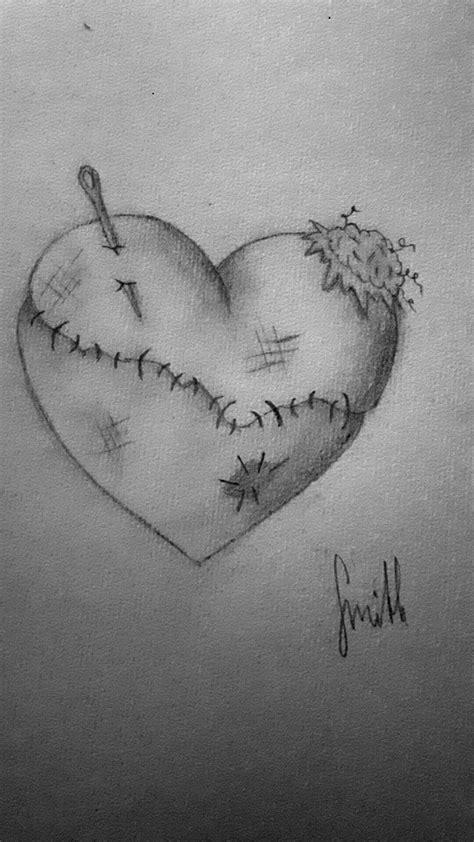 broken heart brokenheart fixed pierced patch pieces