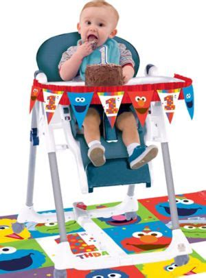 st birthday elmo high chair decorating kit pc party city