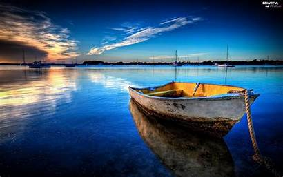 Water Boat Views Azure Wallpapers Boats Background