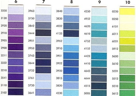 Isacord Thread Color Chart 2008