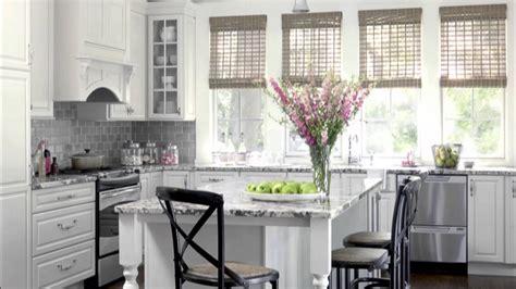 White And Grey Kitchen Ideas - kitchen design white color scheme ideas youtube