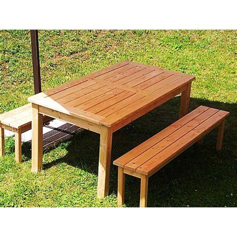 fabrication table de jardin avec banc jsscene com des