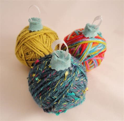 yarn ball ornaments christmas pinterest