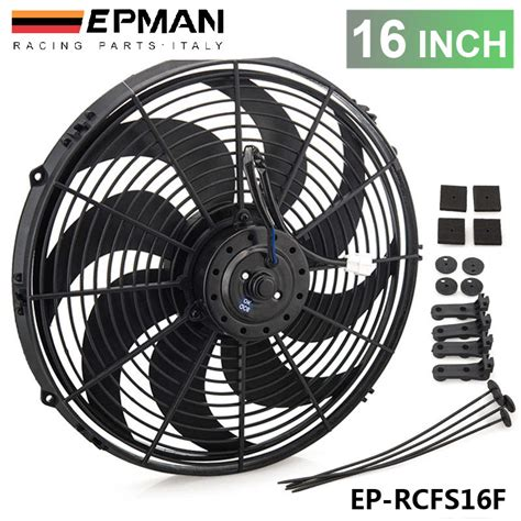 electric radiator fans for cars tansky epman racing car universal 12v 16 quot electric fan