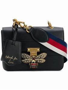 gucci bee logo embellished bag farfetch with images