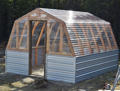 White Diy Shed by White Barn Greenhouse Diy Projects
