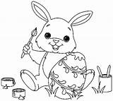 Easter Bunny Coloring Pages sketch template