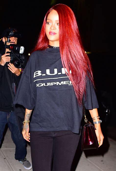 Omg — Rihannas Bright Red Hair Is Back Mtv