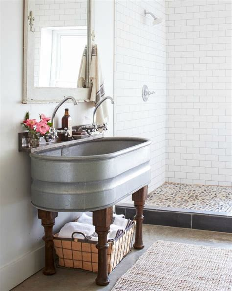 Light Gray Curtains Ikea by 20 Best Farmhouse Bathrooms To Get That Fixer Upper Style