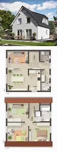 Haus Bauen Ideen Grundriss : klassisches einfamilienhaus grundriss mit satteldach ~ Orissabook.com Haus und Dekorationen