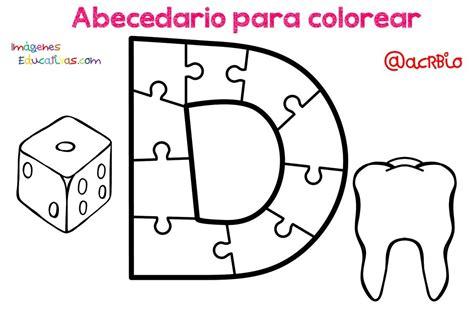 Abecedario para colorear (4) Imagenes Educativas