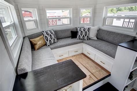 beautifully designed tiny house  luxury kitchen