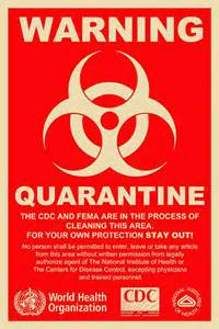 CDC Quarantine Sign Zombie
