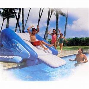 jouet 39toboggan pour piscines enterrees39 sur koikomjouetcom With toboggan gonflable pour piscine enterree