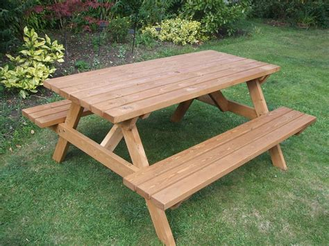 Holzbank Und Tisch by Picnic Table Heavy Duty Commercial Grade Ebay