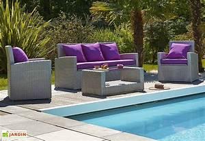 Salon De Jardin Modulable : salon de jardin contemporain mon am nagement jardin ~ Dailycaller-alerts.com Idées de Décoration