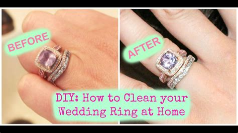 how to clean a wedding ring at home diy how to clean your wedding ring at home youtube