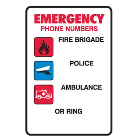 ring phone number emergency phone numbers brigade ambulance or ring
