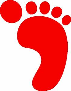 R Foot Print Red A | Free Images at Clker.com - vector ...