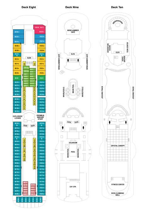 Rhapsody Of The Seas Deck Plan by Rhapsody Of The Seas Deck Plan Fitness Travel Club