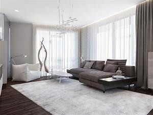 wohnzimmer ideen 2015 einrichten mit neutralfarben With balkon teppich mit tapeten für das wohnzimmer