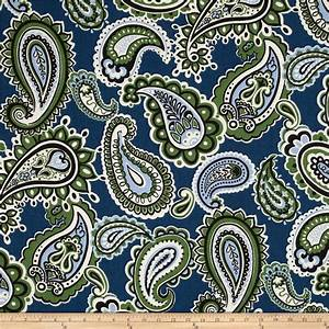 Blue And Green Paisley Fabric - Mexican Blouse