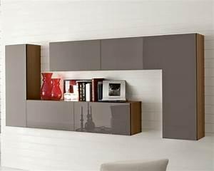 Meuble Mural Salon : meubles rangement salon design ~ Teatrodelosmanantiales.com Idées de Décoration