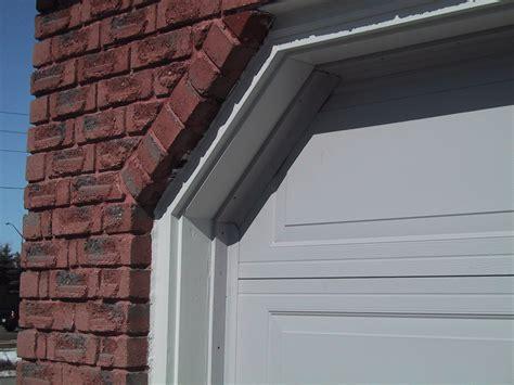 garage door weather seal how to insulate the gaps between the garage door and side