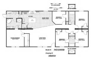 floor plans for 5 bedroom homes manufactured home floor plan 2010 clayton independence 5 bedroom 38ind32685bh10