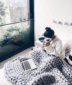 Tricoter Un Plaid En Grosse Laine : tendance tricot les plaids xxl tricot knitting ~ Melissatoandfro.com Idées de Décoration